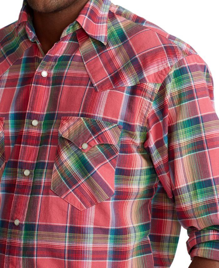 Polo Ralph Lauren Men's Big & Tall Madras Western Shirt & Reviews - Casual Button-Down Shirts - Men - Macy's