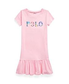 Big Girls Floral-Logo Jersey T-shirt Dress