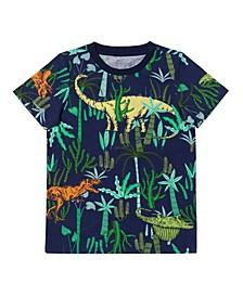 Toddler Boys Short Sleeve All Over Print T-shirt