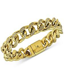 Men's Cubic Zirconia Curb Link Bracelet