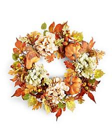 Pumpkin & Leaves Full Harvest Wreath, Created for Macy's