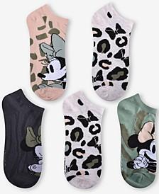 5-Pk. Minnie Mouse Wild Things No-Show Socks