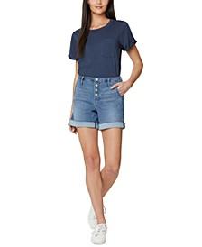 A-Line Denim Shorts