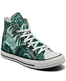 Women's Wild Florals Chuck Taylor All Star High Top Casual Sneakers from Finish Line