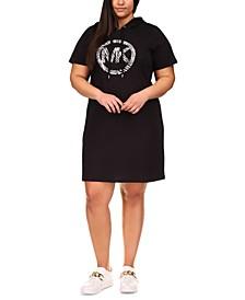 Plus Size Logo-Print Hoodie Dress
