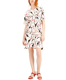 Petite Printed Bungee Dress, Created for Macy's