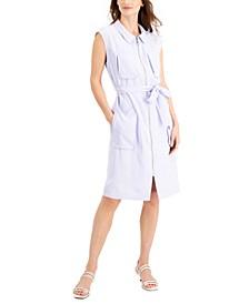 Tie-Waist Zip-Front Dress, Created for Macy's