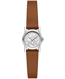 Women's Soho Three-Hand Brown Leather Strap Watch, 22mm