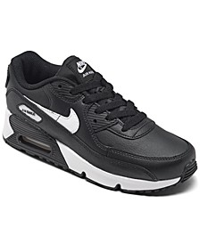 Little Kids Air Max 90 Leather Running Sneakers from Finish Line
