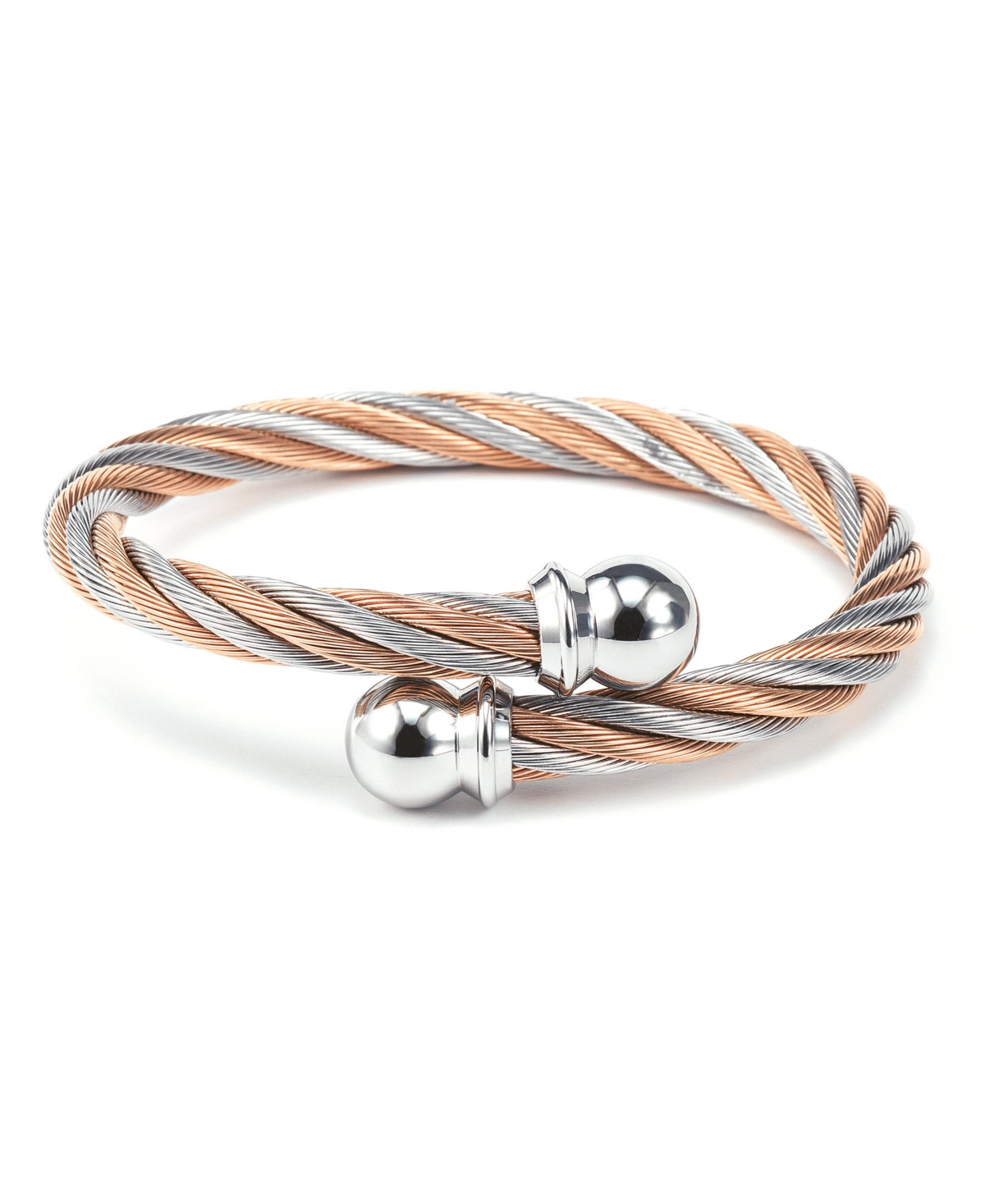 Celtic, Stainless steel Two Tone bangle, Stainless steel rose gold Pvd