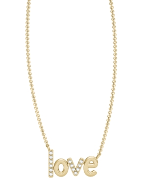 Diamond 1/20 ct. t.w. Love Necklace in 10K Yellow Gold