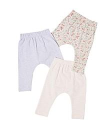 Baby Girl Leggings, Pack of 3