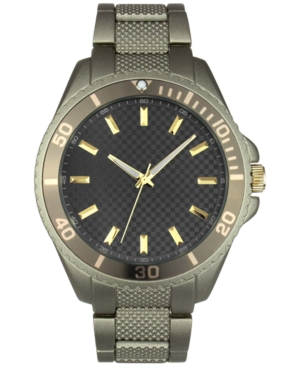 INC INTERNATIONAL CONCEPTS INC MEN'S GREEN-TONE LINK BRACELET WATCH 46MM, CREATED FOR MACY'S
