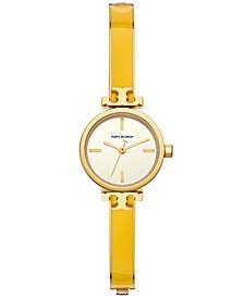 Women's Slim Gold-Tone Stainless Steel Bracelet Watch 22mm
