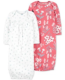 Baby Girls 2-Pack Sleeper Gowns