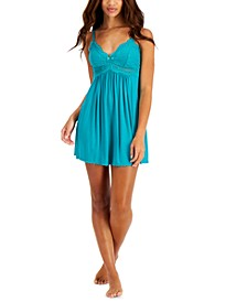 Heavenly Soft Lace-Trimmed Knit Chemise Nightgown, Created for Macy's