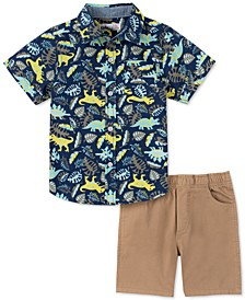 Baby Boys 2-Pc. Printed Shirt & Solid Shorts Set