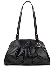 Macellara Oval Leather Satchel