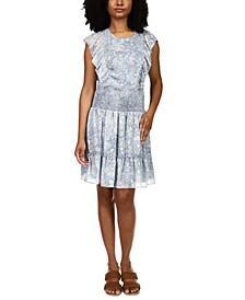 Ruffled Mini Dress, Regular & Petite