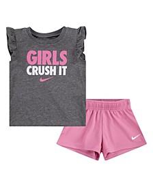 Toddler Girls T-shirt and Shorts, Set of 2