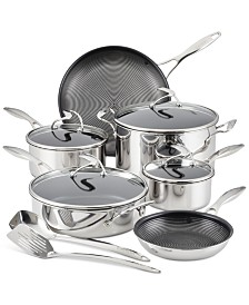 SteelShield C-Series Tri-Ply Clad Nonstick Cookware Plus Bonus Utensil Set, 12-Piece