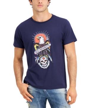Men's Retro Eagle Logo Graphic T-Shirt