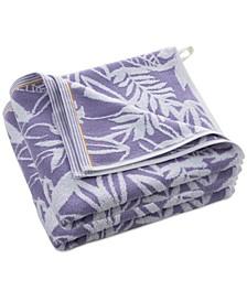 Curacao Playa Lagun Cotton Botanical Jacquard Bath Towel Collection
