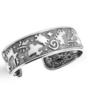 by Carolyn Pollack Native American Animal Symbols Cuff Bracelet in Sterling Silver