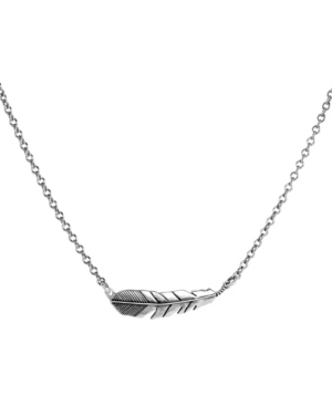 by Carolyn Pollack Sterling Silver Feather Chain Necklace