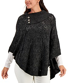 Mock-Neck High-Low Poncho, Created for Macy's