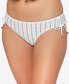 Crochet Shirred-Side Hipster Bikini Bottoms, Created for Macy's