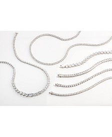 Cubic Zirconia Jewelry Collection in Fine Silver Plate