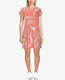 Plus Size Tie-dye Baby Short Sleeve Dress