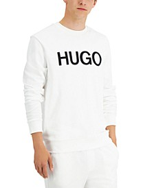 Hugo Boss Men's Dengu Regular-Fit Logo-Print French Terry Sweatshirt, Created for Macy's