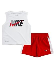 Little Boys Dri-Fit Tank Top and Shorts Set