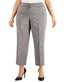 Plus Size Cross-Dye Straight-Fit Pants