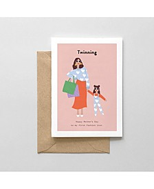 Twinning Mother's Day Greeting Card