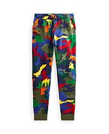 Big Boys Polo Pony Camouflage Fleece Jogger Pants