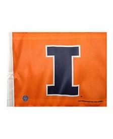 Illinois Fighting Illini Car Flag