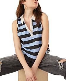 Doing It Cotton Sleeveless Rugby Top