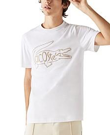 Men's Embroidered Crocodile T-Shirt