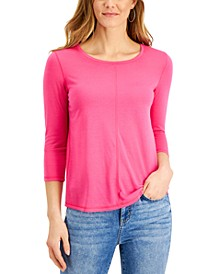 Textured Seamed Top, Created for Macy's