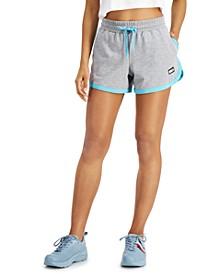 Contrast-Hem Shorts
