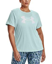 Plus Size UA Tech Twist Graphic Short-Sleeve T-Shirt