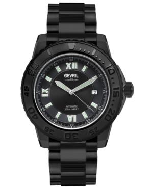 Men's Seacloud Swiss Automatic Black Stainless Steel Bracelet Watch 45mm