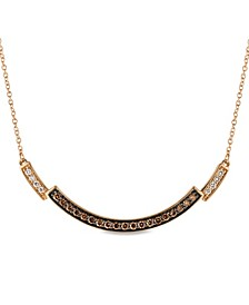Chocolate Diamonds® (1/4 ct. t.w.) and Vanilla Diamonds® (1/20 ct. t.w.) Necklace in 14k Rose Gold