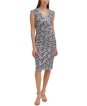 Glitter Lace Sheath Dress