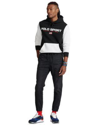 폴로 랄프로렌 조거팬츠 Polo Ralph Lauren Mens Slim Tapered Fit Jogger Jeans,Washed Black