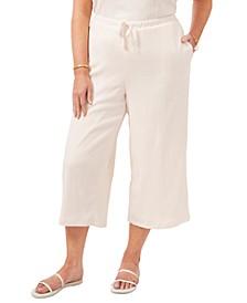 Trendy Plus Size Cropped Drawstring Pants