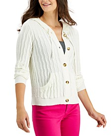 Hooded Button Up Sweater, Created for Macy's
